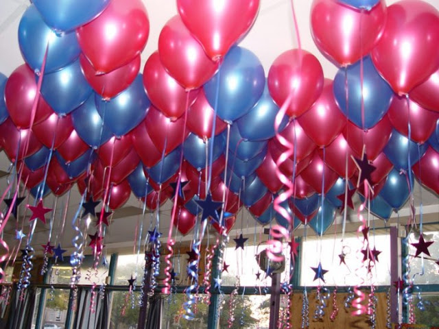 10 cute birthday decoration ideas birthday songs with names for Balloon decoration at home