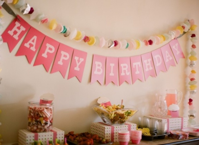 10 cute birthday decoration ideas birthday songs with names for Birthday home decorations
