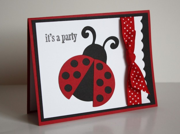 How to Make Your Own Birthday Party Invitations Birthday Songs – Ladybug Party Invitations