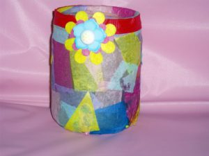 Vase With Tissue Paper