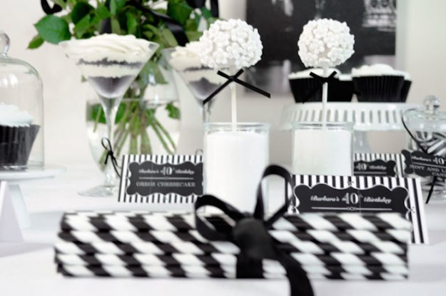 Black And White Birthday Party Ideas For Adults Archidev