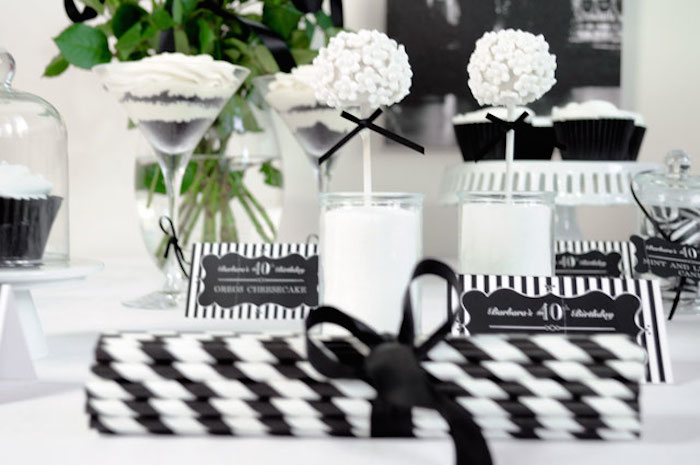 Ideas For Throwing A Black Amp White Birthday Party