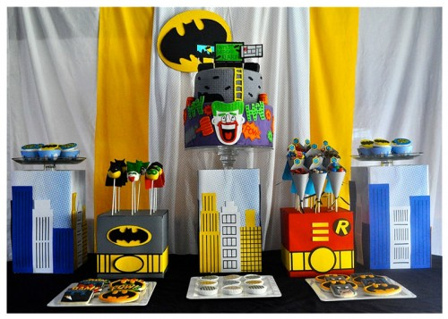 batman-dessert-table