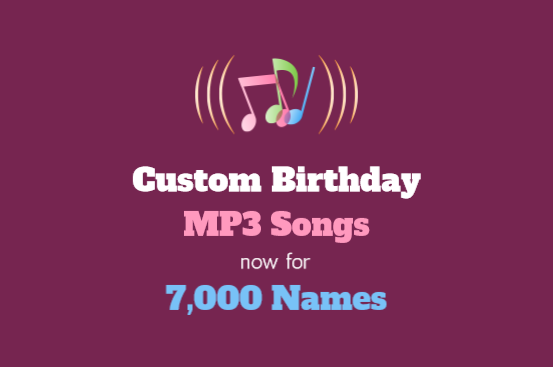 Personalized Birthday songs